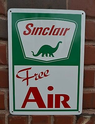 Sinclair Free Air Gas Pump Sign Gas Service Station Dino Garage Collectable 7day