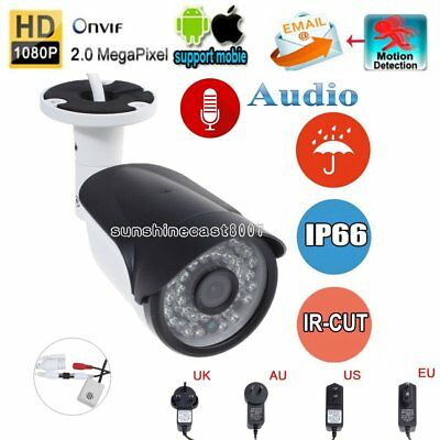 HD 1080P IP Camera Onvif Outdoor 2.0MP Audio Security Network IR Night Vision