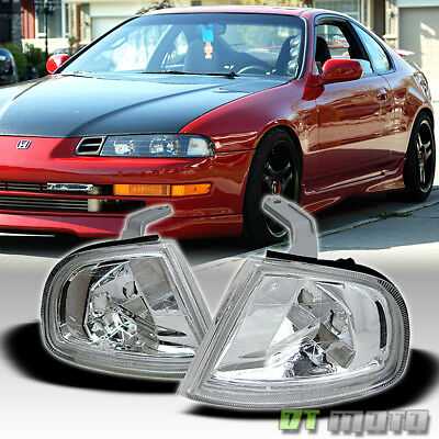 For 92-96 Honda Prelude JDM Euro Clear Corner Signal Lights Lamps Pair 93 94 95