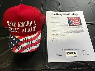 Donald Trump & Mike Pence Signed Make America Great Again Hat W/ Psa /dna Loa !
