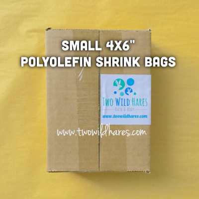 """500- 4""""x6"""" Polyolefin Shrink Bags (smell through) 75 gauge, BEST Wrap Available!"""