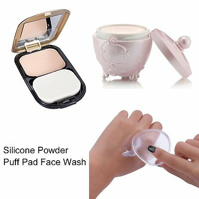Water Drop Shape Clear Silicone Foundation Powder Puff Pad Beauty Makeup Tool F1