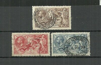 Great Britain Stamps #179-181 Set Of 3 (Used) From 1919.