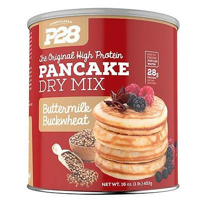NEW P28 Foods Buttermilk Buckwheat Pancake Dry Mix 28g High Protein Meal No GMO
