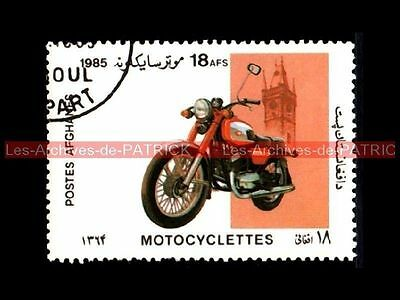 JAWA 350 1985 - AFGHANISTAN Moto Timbre Sello