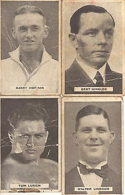 "SWEETACRES GUM TRADING CARDS 1930s ""SPORTS CHAMPIONS ETC."" SERIES - 4 CARDS"