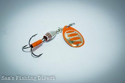 Savage Gear Rotex Spinner #3 or #4 Orange Silver Pike Perch Chub Fishing