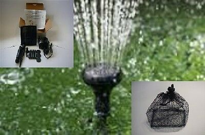 SOLAR POWER POND FOUNTAIN,1.5W WATER PUMP,150LPH, AERATOR OYXGEN with FILTER BAG