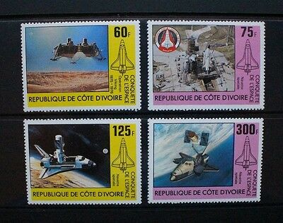 IVORY COAST 1981 Conquest of Space Shuttle. Set of 3. MNH. SG673/676.