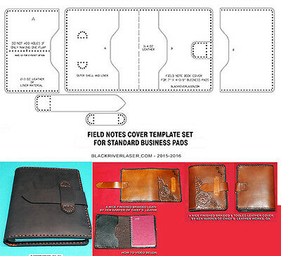 Spiral Bound Business Pad Cover Template Set For Leather Crafters - Fncts