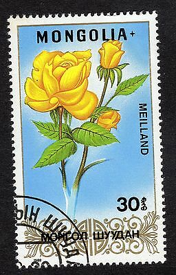 1988 Mongolia 30m Roses Meilland SG 1921 FINE USED R21613