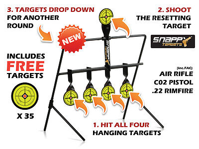 Snappy Targets Air Rifle -  Self Resetting Shooting Gallery Target (FAC Rated)