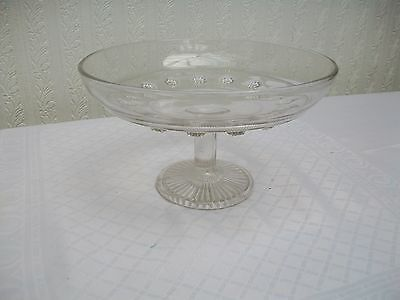 Vintage Pressed glass cake stand / cake plate , cupcake plate ( 815dh)