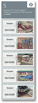 Canada 2016 Permanent Canadian Artists Strip of 5 Kiosk Stamps Mint Never Hinged
