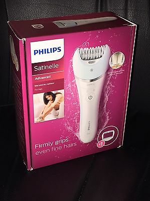 Philips Satinelle Advanced Wet Dry Epilator Legs Body Face Cordless BRE610/00