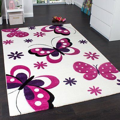 Pink and White Rug Bedroom Cozy Soft Thick Floor Mat Small Extra Large XL New