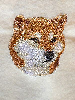 Shiba Inu Head, Towel, Embroidered, Custom, Personalized, Dog