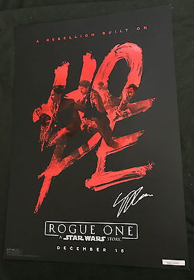 Gareth Edwards signed Rogue One Poster Photo Proof Limited Exclusive El Capitan