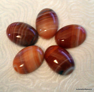 Red / orange fire agate domed cabochon 18x13mm flat back