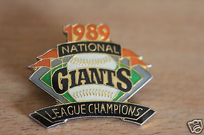 Vintage giants American baseball Team Pin Badge,1989,