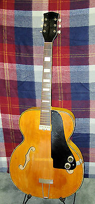 1951 NATIONAL California 1100 Archtop Acoustic / Electric Guitar W/ Orig Cse