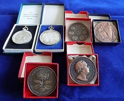 Job Lot Gardening, Horticultural, RHS, 6 Different Medals, 1950/60s (Ref. t0288)