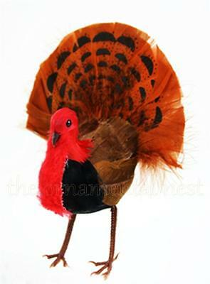 Realistic Gobble-Gobble Turkey Feather Tree Thanksgiving Christmas Tree Ornament