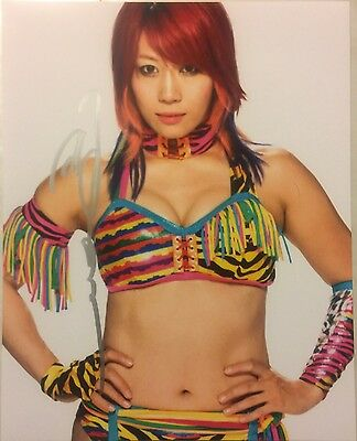 NXT Women's Champ ASUKA AUTOGRAPHED 8x10 Photo WWE Wrestling SIGNED
