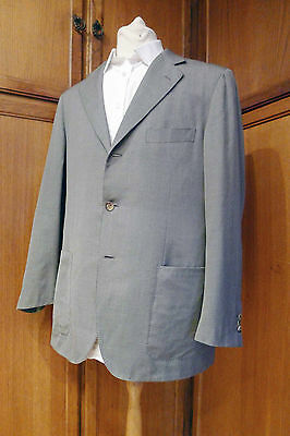 Superbe costume 54 Adriano Cifonelli gris clair LAINE SOIE Wool Silk LUXE !