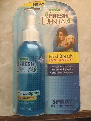 Naturel Promise DNP33013 Fresh Dental Dog Spray, 4-Ounce