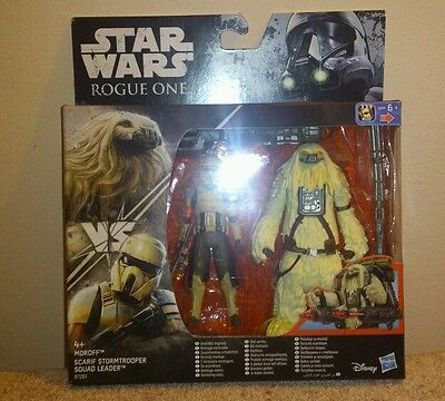 Pack Star Wars;Rogue one:Moroff+Scarif Stormtrooper Squad Leader