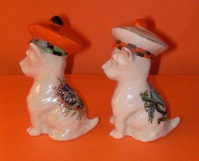 Carlton Crested China Dogs Tam O,Shanters Lucky White Heather,Dundee Crest