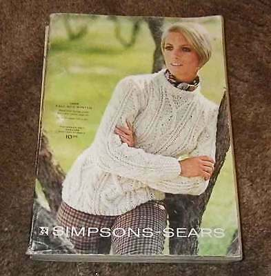 Simpsons Sears  1968 Fall winter Catalog. Canadian issue
