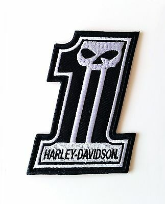 HARLEY DAVIDSON PATCH AUFNÄHER No. 1 NUMBER ONE NUMMER EINS