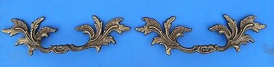 Pair of VINTAGE FRENCH PROVENCIAL Brass Furniture Pulls K-7457 Italian Brass