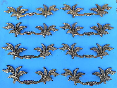 VINTAGE FRENCH PROVENCIAL Brass Furniture Pulls K-7457 Italian Brass Set of 8