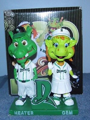 Dayton Dragons, Heater And Gem Double Bobblehead Very Limited