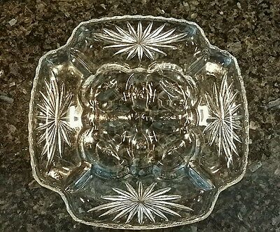 Star of David DEVILED EGG PLATE Dish Relish Tray Platter Anchor Hocking EAPC Vtg