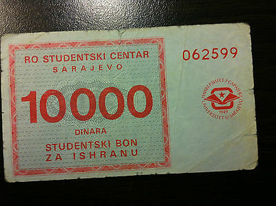 EXTRA RARRE- Bosnia and Herzegovina-  Local note -  Sarajevo  -10 000 DINARA !!