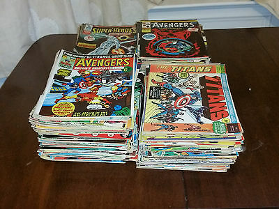 250 Bronze Marvel UK Comics Lot Collection Avengers Super-Heroes Titans