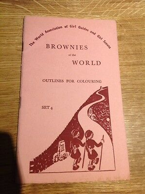 Vintage Brownies Of The World Girl Guide Booklet Outlines For Colouring 1957