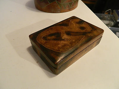 Vintage Wooden box with R. Poggianti stamp mark