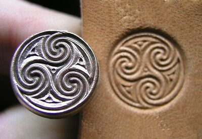 012-01 Celtic Spirals Leather stamp brass Tool collectibiles