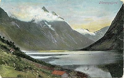 Postcard Northern Fjord Norangsfjord Norway Undivided Rear