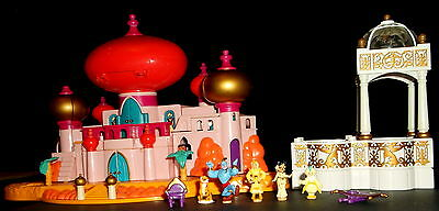Vintage Polly Pocket Jasmine Palace, Hot Tab/ Pool & Original Figures, Exellent