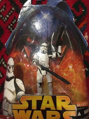 Star Wars Clone Trooper Action Figure #6 Revenge Of The Sith Collection