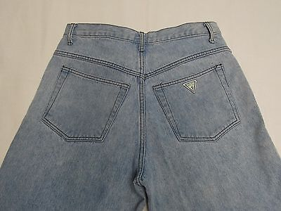 Vintage Men's Guess Jeans Size 32 X 33 Made in USA Green Tag 2 button Zipper