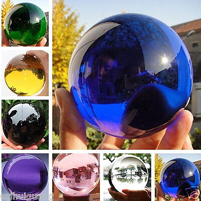 Round Glass Crystal ball Sphere Buyers select the size Stand 40-100mm
