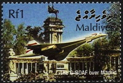 British Airways (BA) CONCORDE G-BOAF (Madrid) Supersonic Airliner Aircraft Stamp