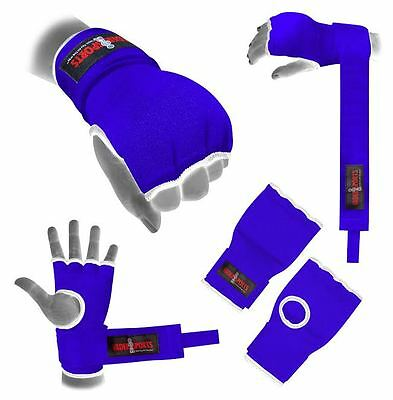 Hand Wrap Blue GEL Padded inner boxing glove MMA UFC Adult / kids gel Quick wrap